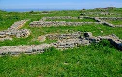 Średniowieczny forteca na przylądku Kaliakra zdjęcie stock