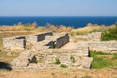 Średniowieczny forteca na przylądku Kaliakra obraz royalty free