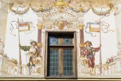 Średniowieczny fresk obrazy stock