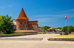 Średniowieczny gothic Kaunas kasztel z wierza, Lithuania fotografia royalty free