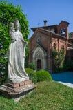Średniowieczny gothic kościół obrazy royalty free