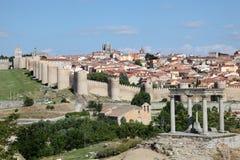 Średniowieczny grodzki Avila, Castile i Leon, Hiszpania Fotografia Stock