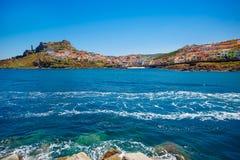 Średniowieczny grodzki Castelsardo, Sardinia, Włochy Fotografia Royalty Free