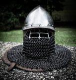 Średniowieczny hełm Fotografia Stock