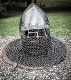 Średniowieczny hełm Zdjęcie Royalty Free
