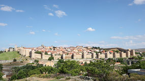 Średniowieczny hiszpański grodzki Avila Obrazy Royalty Free