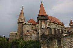 Średniowieczny Hunyad lub Corvin kasztel, Hunedoara miasteczko, Transylvania r obraz stock