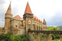 Średniowieczny Hunyad lub Corvin kasztel, Hunedoara miasteczko, Transylvania r fotografia stock