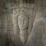 Średniowieczny Kamienny sculptur Margaret Ja Dani obrazy royalty free