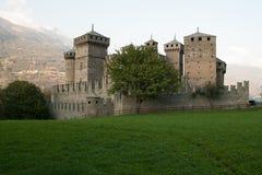 Średniowieczny kasztel Fenis Valle d ` Aosta, Włochy Obrazy Stock
