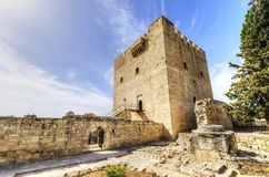 Średniowieczny kasztel Kolossi, Limassol, Cypr Obrazy Stock