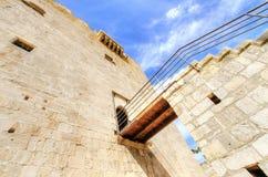 Średniowieczny kasztel Kolossi, Limassol, Cypr obraz stock