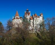 Średniowieczny kasztel Otrębiasty Dracula ` s kasztel, Brasov, Transylvania, Rumunia fotografia stock