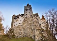 Średniowieczny kasztel Otrębiasty Dracula ` s kasztel, Brasov, Transylvania, Rumunia zdjęcie royalty free