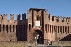 04 Średniowieczny kasztel Soncino, Cremona, Włochy - Fotografia Royalty Free