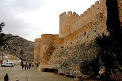 Średniowieczny kasztel Villena miasto zdjęcie stock