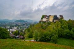 ?redniowieczny kasztel w Lenzburg, kanton Aargau, Szwajcaria obraz royalty free