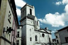 Średniowieczny kościół Zdjęcia Stock