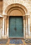 Średniowieczny kościół groszaka drzwi fotografia royalty free