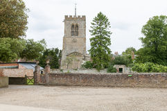 Średniowieczny kościelny podwórze Obraz Royalty Free
