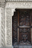 Średniowieczny kościelny portal Fotografia Stock
