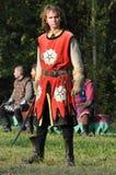 Średniowieczny kordzika wojownik Obraz Stock