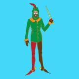 Średniowieczny kostiumowy mężczyzna royalty ilustracja