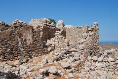 Średniowieczny krzyżowa kasztel, Tilos wyspa zdjęcie royalty free