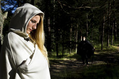 Średniowieczny mężczyzna i kobieta Zdjęcia Royalty Free