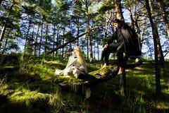 Średniowieczny mężczyzna i kobieta Obrazy Stock