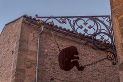 Średniowieczny małpa znak obrazy stock