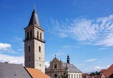 Średniowieczny miasta wierza w Austria zdjęcie stock