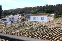 Średniowieczny miasteczko Obidos przy Portugalia Fotografia Royalty Free