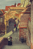 Średniowieczny miasteczko, Sibiu, Rumunia Fotografia Stock