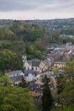 Średniowieczny miasteczko w wiośnie Zdjęcie Royalty Free