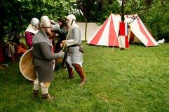 Średniowieczny obóz przy UN Tuffo Nel Passato 2017 zdjęcia royalty free
