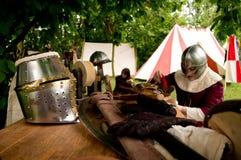 Średniowieczny obóz przy UN Tuffo Nel Passato 2017 fotografia royalty free