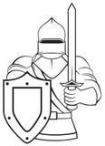 Średniowieczny rycerz royalty ilustracja