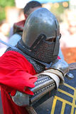 Średniowieczny rycerz przed bitwą Portret Zdjęcie Royalty Free