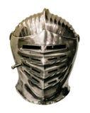 Średniowieczny rycerz zbroi hełm Obrazy Stock