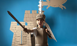 Średniowieczny rycerza dziecko Obrazy Stock