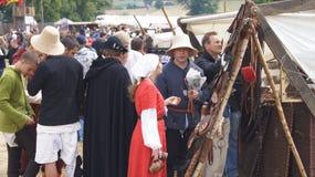 Średniowieczny rynek w grunwald Zdjęcia Stock