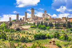 średniowieczny San Gimignano, Tuscany - zdjęcie royalty free