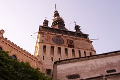 średniowieczny sighisoara wieżę zegarową Zdjęcie Royalty Free