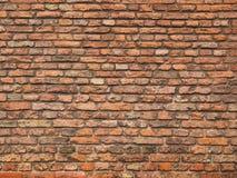 Średniowieczny szorstki ściana z cegieł ziemia i terakota barwił cegły Fotografia Stock
