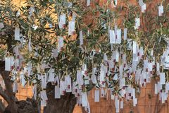 Średniowieczny targowy festiwal w hiszpańskiej wiosce Calonge Obraz Royalty Free