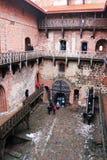 Średniowieczny Trakai kasztel wewnętrzny podwórze obraz stock