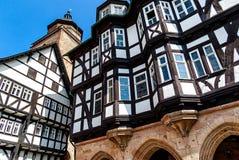 Średniowieczny urząd miasta 1512 - 1516 w Alsfeld jest jeden najwięcej znacząco Niemieckich ryglowych urzędów miasta budynków, Ni zdjęcie stock
