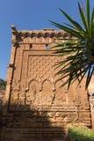 Średniowieczny warowny Muzułmański necropolis lokalizować w Rabat zdjęcie stock
