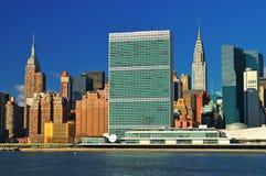 Środek miasta Manhattan przy słonecznym dniem Zdjęcia Stock